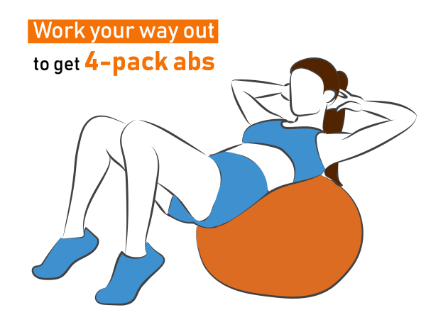 Work your way out to get 4 pack abs