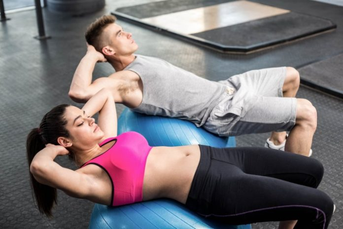 Crunch-on-a-ball-weighted-crunches