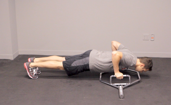 Trap Bar Elevated Pushup