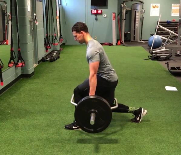 Trap bar split workout